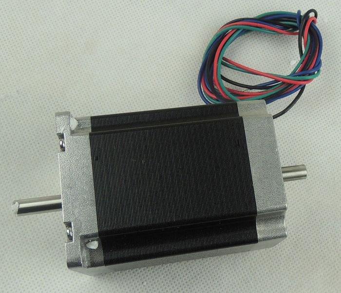 Nema23 stepper motor 270oz-in / 76mm 3A 18.9Kgcm / 2 phase 4-wire hybrid(Dual Shaft 6.35mm)Nema23 stepper motor 270oz-in / 76mm 3A 18.9Kgcm / 2 phase 4-wire hybrid(Dual Shaft 6.35mm)