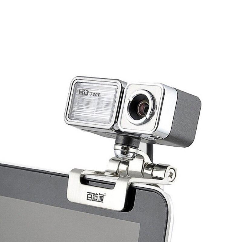 Высокое качество USB веб-камера с зажимом, HD 720 P 60fps компьютер Камера с ночной свет и микрофон 3 в 1 веб-камера для ПК