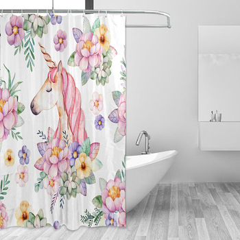 Delicate Sea Dolphin Waterproof Bathroom Shower Curtain Toilet Cover Mat Set