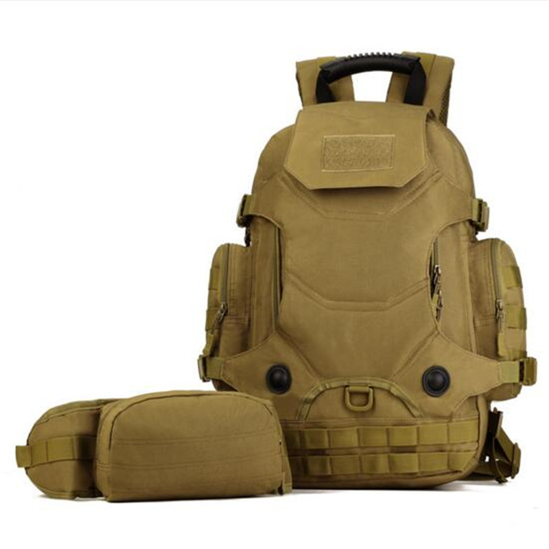 Military camouflage backpack backpack 40 liters multi-functional three bags sum large capacity travel bag leisure bag computer