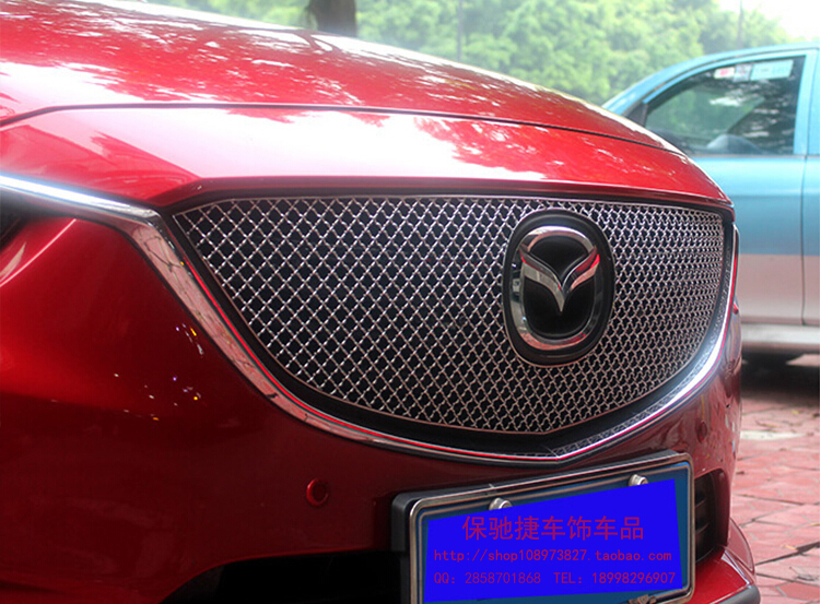 Honeycomb Front Grille Grill Mesh Cover protector Overlay 1pcs For Mazda Atenza / M6  2013 2014 2015