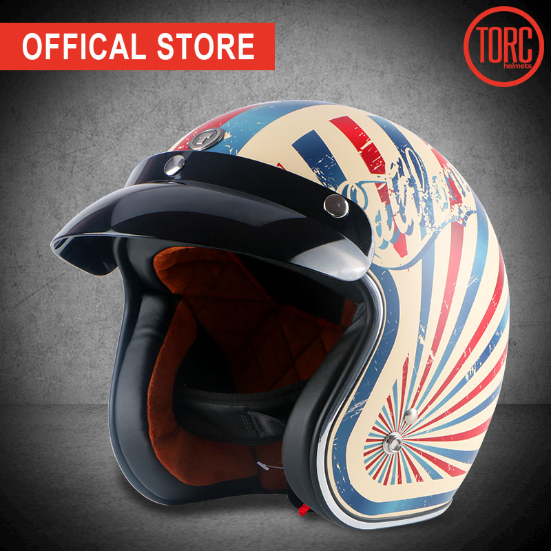 TORC brandcasco moto Classic Open gesicht helm Vintage jet helm Retro moto rcycle helm capacete GLÜCK 13 moto queiro SCHÄDEL