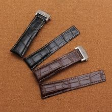 new arrival 20 mm22 mm 24mm black white line folding metal buckle strap men women watchbands