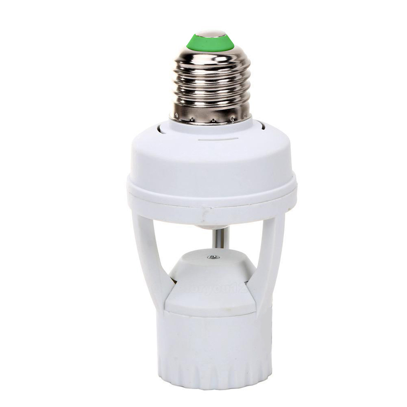Mayitr PIR Infrared Sensor Bulb Switch LED lamp Base Holder Motion Sensor LED Auto Energy Saving Light Bulb Switch 110/220V litake led bulb lamp energy saving motion activated light bulb e27 9w pir infrared motion sensor light pir stairs night light