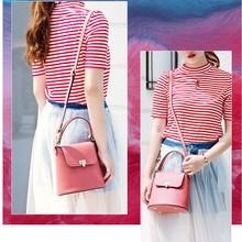 2018 Genuine Leather fashion womens bucket bag high-end female beach ladies Messenger handbag MZORANGE