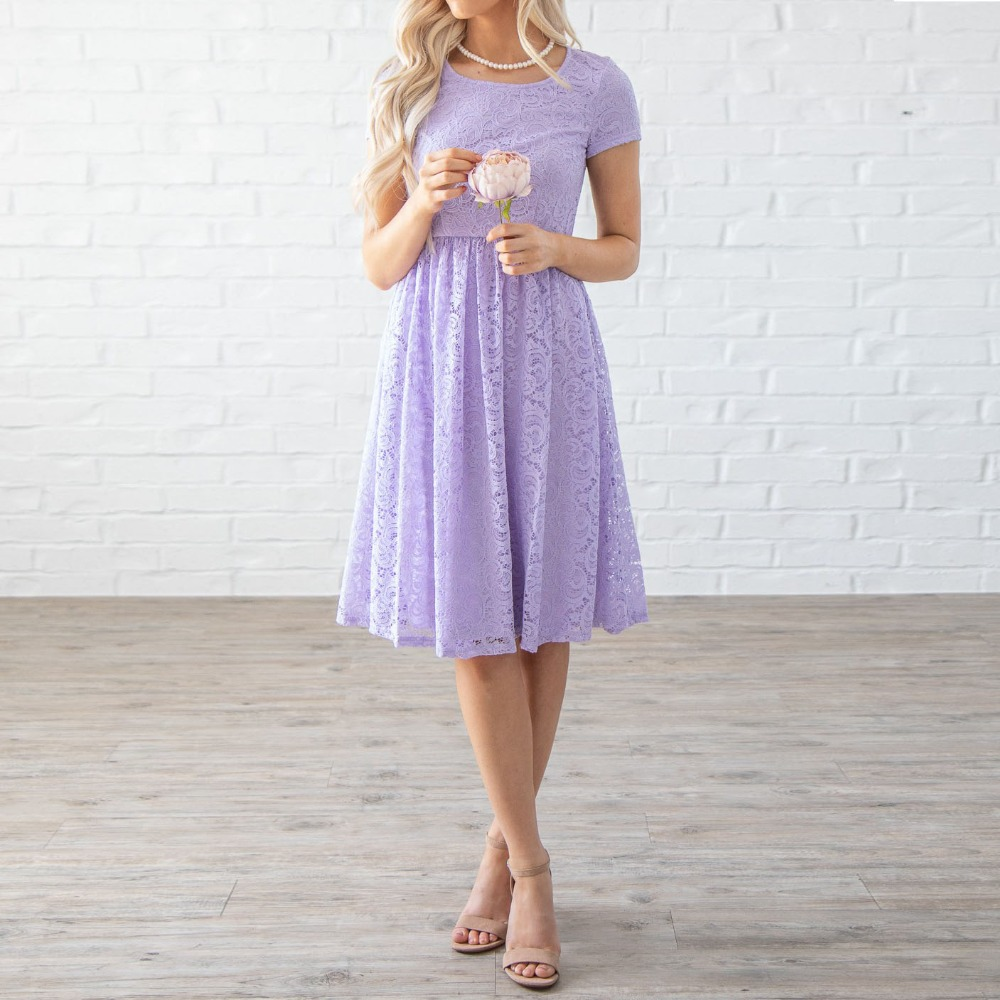 robe demoiselle d'honneur robe de mariee Lilac   Bridesmaid     Dress   Short vestido madrinha Lace Knee Length   Bridesmaid     Dresses   Cheap
