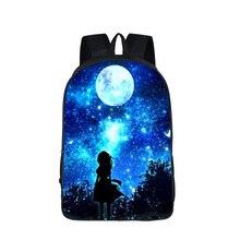 colorful galaxy space Backpack For Teenage Girls Boys Cat Dog Animal Children School Bags Kids Travel Backpack Bookbag