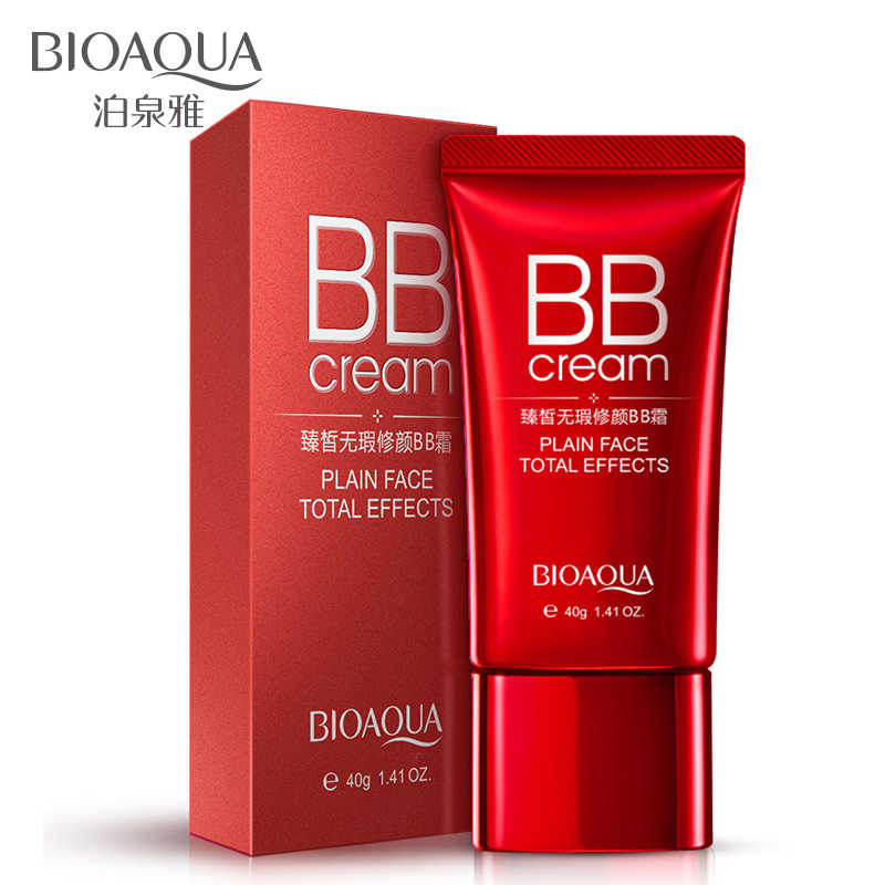 Bioaqua Segar Nude Make-Up Bb Cream Whitening Sempurna Concealer Wajah Isolasi Tahan Air Merah Besar CC Cream