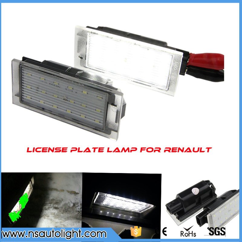 led license plate light number plate lamp for renault. Black Bedroom Furniture Sets. Home Design Ideas