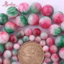 "6,8,10,12mm Smooth Round Beads Ball Multicolor Candy Jades Stone Beads For Necklace Bracelets Jewelry Making 15"" Free Shipping(China)"