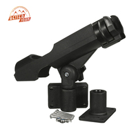 Fishing Tackle Accessory Tool 360 Degrees Rotatable Rod Holder Bracket With Screws For Boat Assault Boats