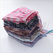 Pyjama Trousers Sleep-Bottoms Plaid Sleepwear Cotton Plus-Size Women Ladies Autumn Spring
