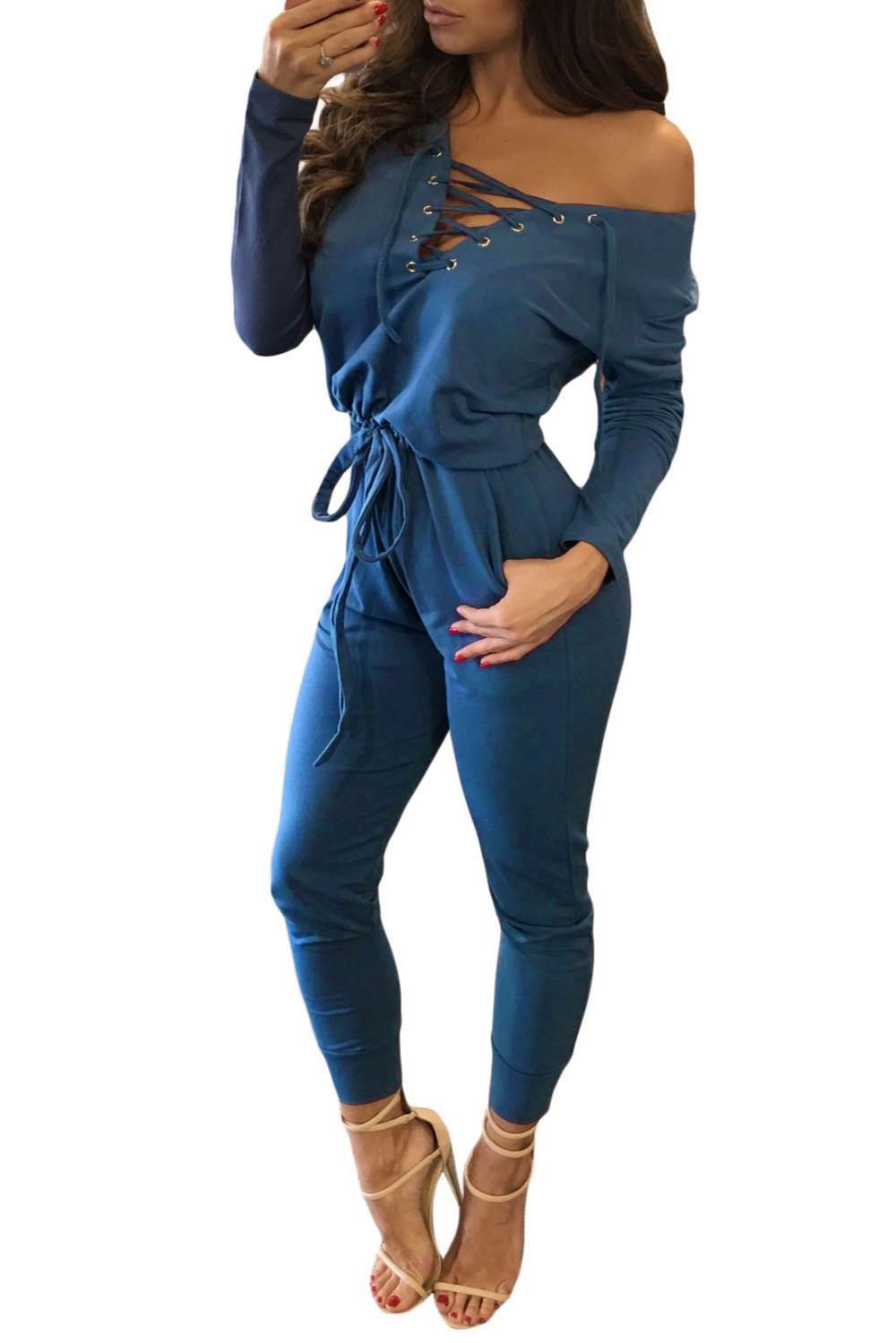 Blue-Grommet-Lace-Up-Long-Sleeve-Jumpsuit-LC64223-5-1