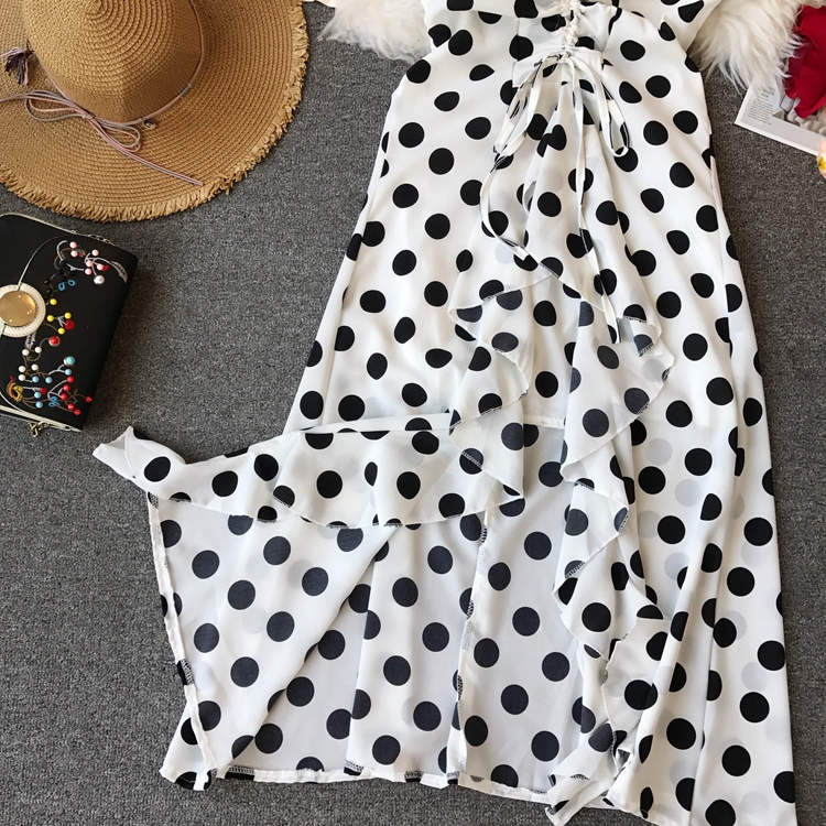 Women Beach Red Dress 2019 Summer New Seaside Holiday Sleeveless Dot Print Casual Vestidos E496 28