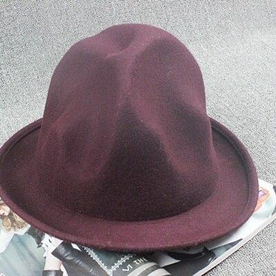Фирменная Новая модная женская и мужская шерстяная фетровая горная шляпа Фарелл Вильямс Вествуд Стиль Знаменитостей Новинка шляпа в стиле Буффало - Цвет: wine red