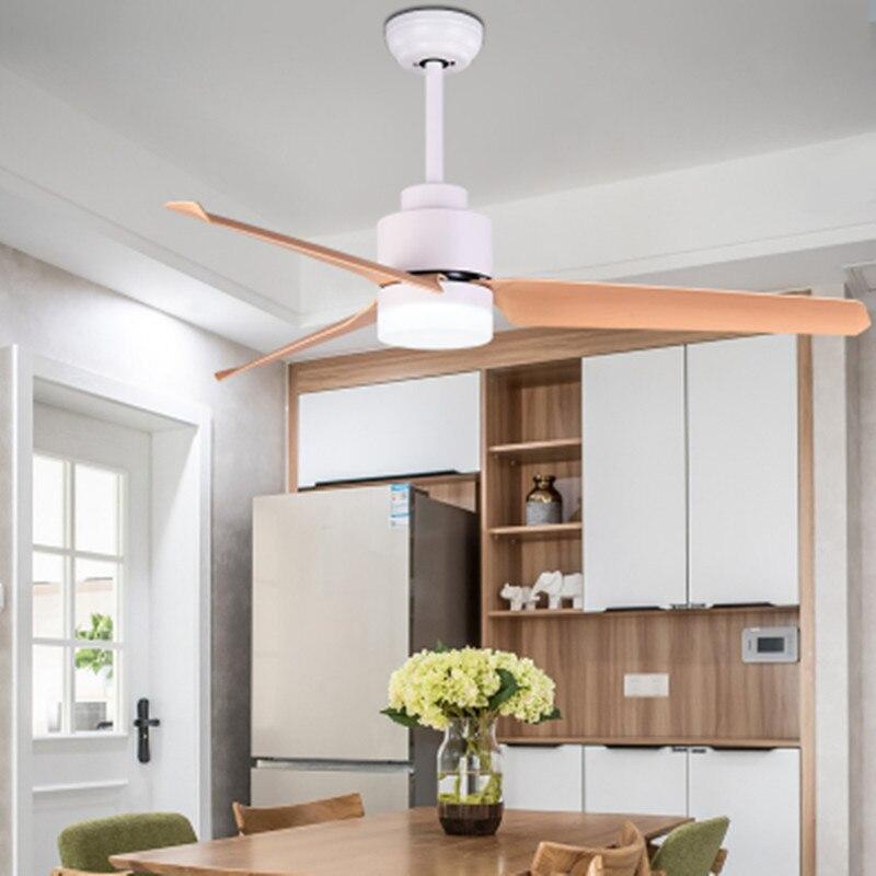 Vintage lumière en bois ventilateurs de plafond décor télécommande plafond ventilateur lumières Ventilador quatre couleurs trois lames en tôle d'acier