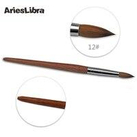 KADS 5pcs Set Design 100 Mahogany Sable Acrylic Nail Art Builder Brush Spiral Gel Pen Tips