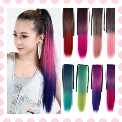 22 inch synthetic ponytail straight hair extension colored dyeing 22 inch synthetic ponytail straight hair extension colored dyeing false hair pony tail black burgundy purple highlight hairpiece on aliexpress alibaba pmusecretfo Image collections