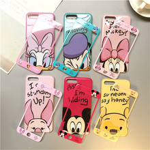 360 Cartoon Phone Case + Glass iPhone 6 6s Plus 7 8 Plus X XR XS Max