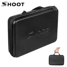 SHOOT GoPro Hero 9 8 7 5 용 대형 휴대용 PU 방수 휴대용 케이스 SJCAM Xiaomi Yi 4k Eken h9 카메라 박스 Go Pro 8 액세서리