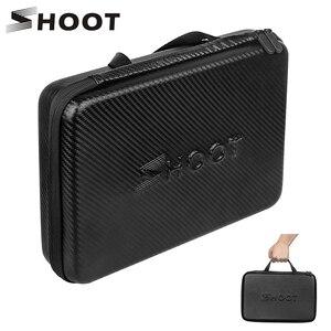 Image 1 - SHOOT Large Portable PU Waterproof Carrying Case for GoPro Hero 9 8 7 5 SJCAM Xiaomi Yi 4k Eken h9 Camera Box Go Pro 8 Accessory
