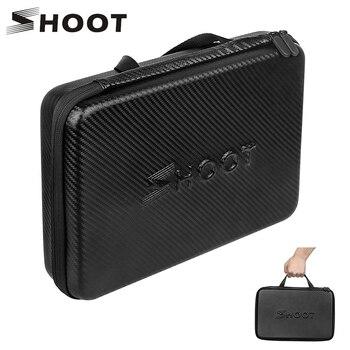 цена на SHOOT Large Protable PU Waterproof Carrying Case for GoPro Hero 8 7 6 5 SJCAM Xiaomi Yi 4k Eken h9 Camera Box Go Pro 8 Accessory