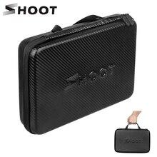 SHOOT duży przenośny PU wodoodporny futerał do GoPro Hero 9 8 7 5 SJCAM Xiaomi Yi 4k Eken h9 aparat Box Go Pro 8 akcesoria