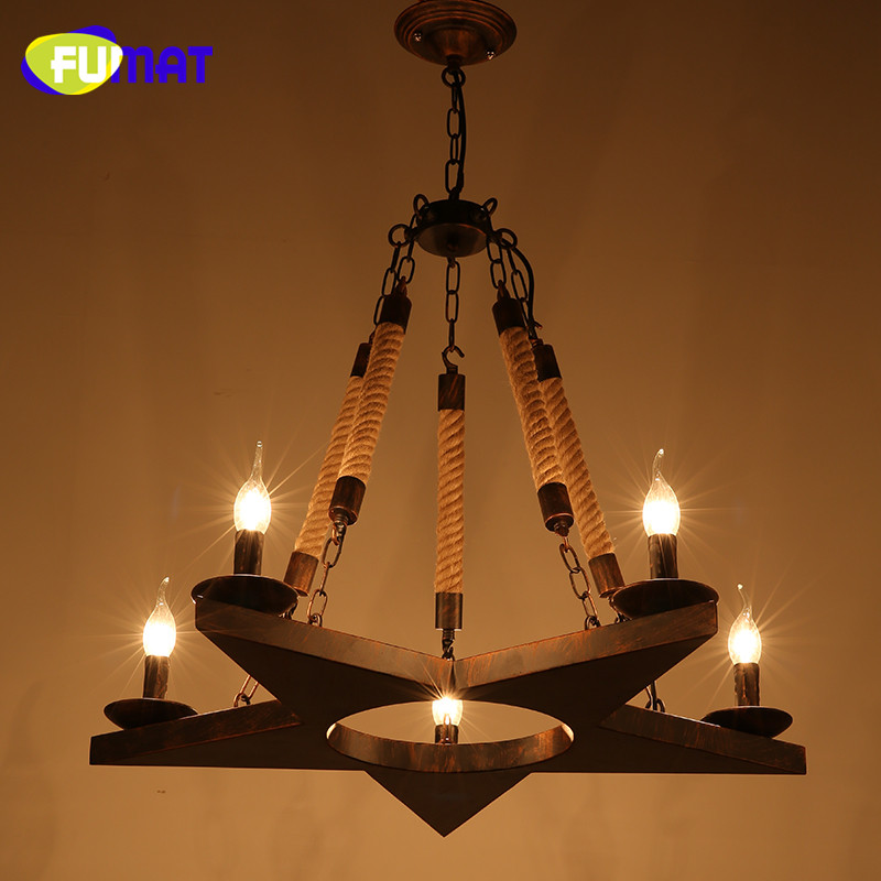 Loft Retro Industrial Chandeliers Creative Restaurant Bar Suspension Lamps Clothes Store Decoration Rope Light Fitting 5 Heads