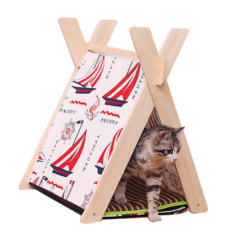 Teepee sailing design pet kennels summer high quality diy for Diy cat teepee