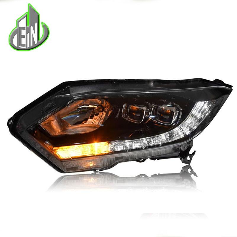 EN Car Styling Headlight Assembly For Honda HR-V HRV headlights 2015 2016 head lamp LED DRL front light Bi-Xenon Lens xenon HID