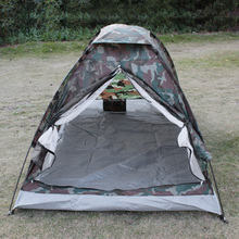 Camouflaged 2-Person Camping Tent