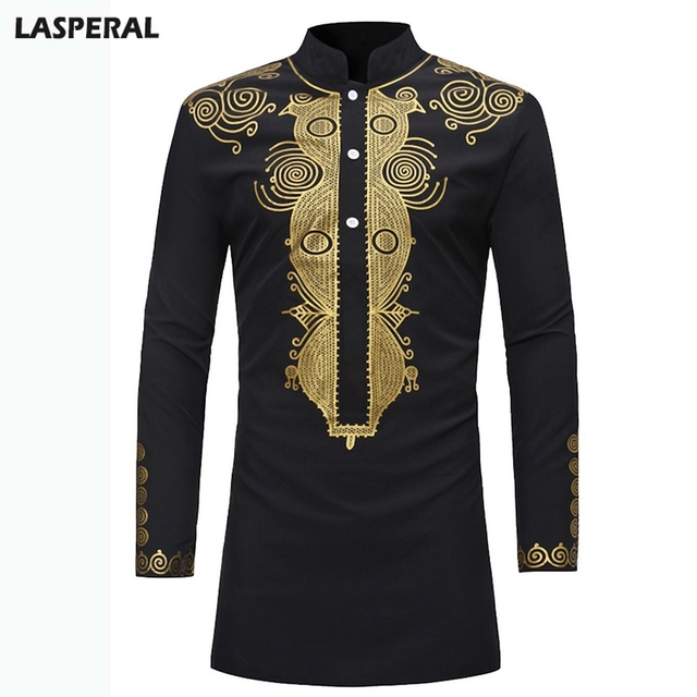 eba621b2c8e LASPERAL Brand Men Summer Shirt Loose Plus Size African Clothing African  Dashiki Style National 2018 Long