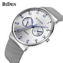 купить New Mens Watches Top Brand Luxury Date Day Quartz Watch Men Casual Slim Mesh Steel Waterproof Sport Watch Relogio Masculino по цене 638.29 рублей