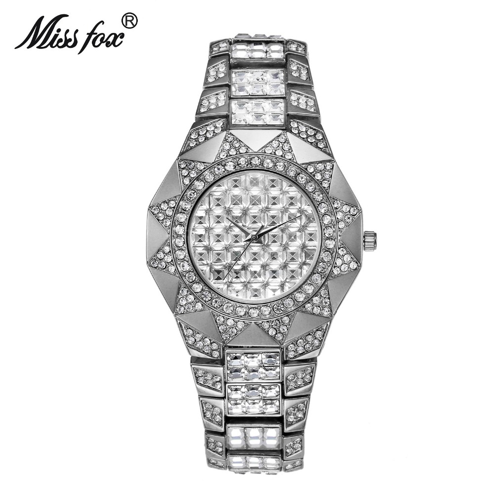 2018 Miss Fox Brand Fashion Luxury Womens Quartz Watches Watch Diamond Solar Gold Watch Ladies Bracelet Clock Relojes Mujer luxury brand women watches fashion waterproof girls gold bracelet ladies quartz wrist watch clock woman hours relojes mujer 2017