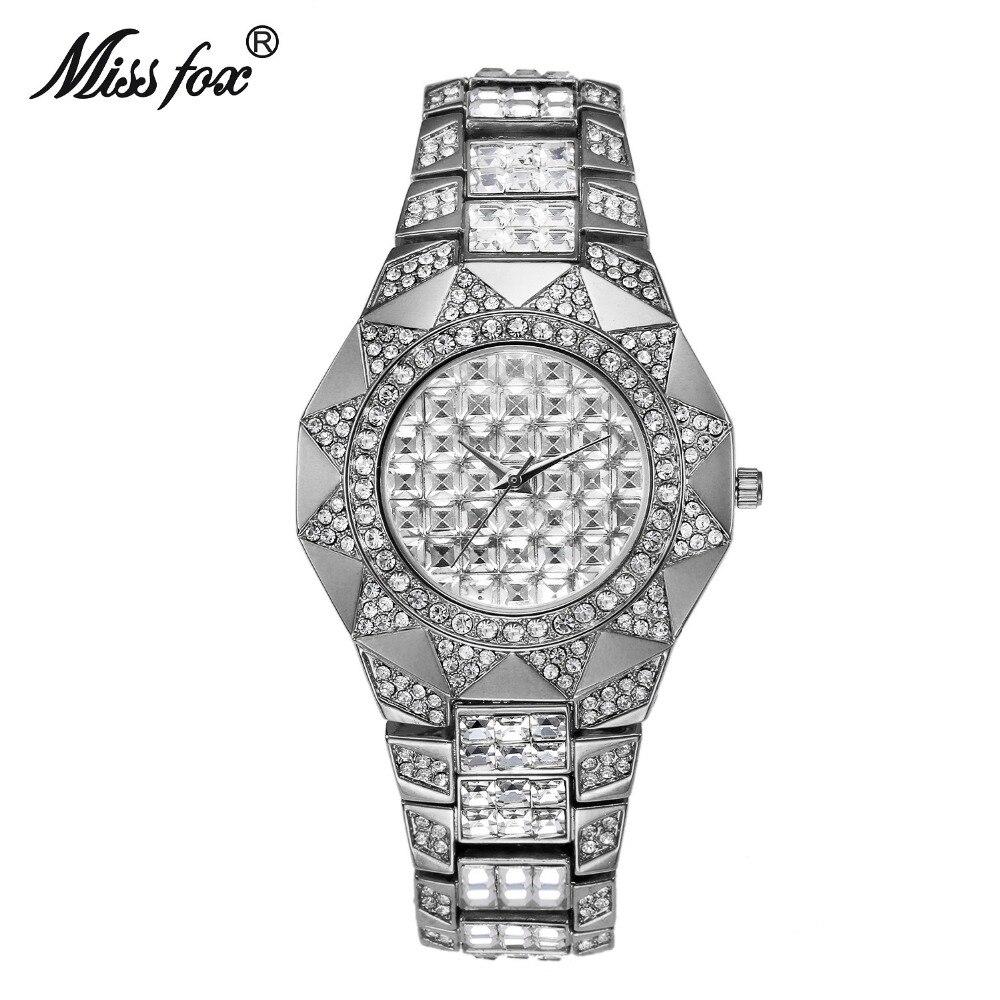 2018 Mlle Fox Marque De Mode De Luxe Femmes Quartz Montres Montre Diamant Solaire Or Montre Dames Bracelet Horloge Relojes Mujer
