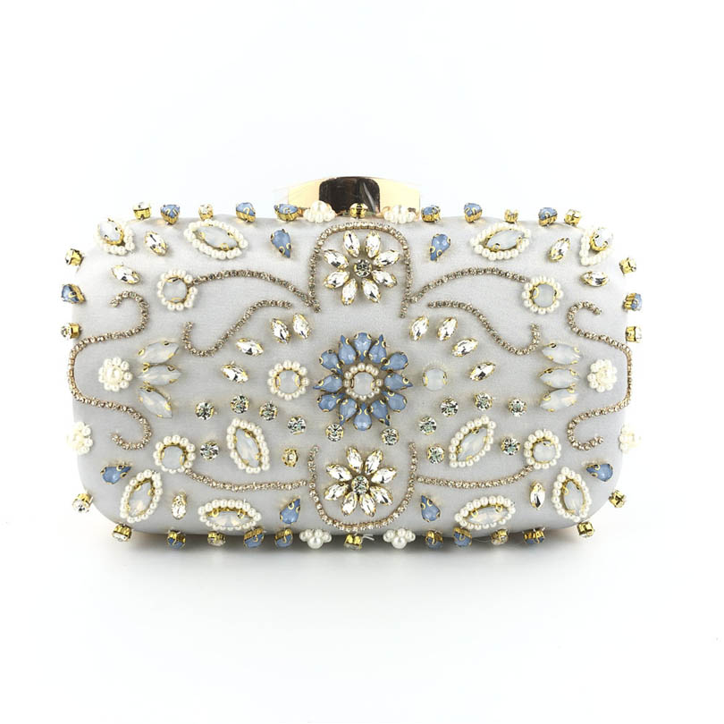 Clutch-Bag Elegant Wedding-Bag Rhinestone Diamond Party Fashion Women Luxury Beads Tassel-Day