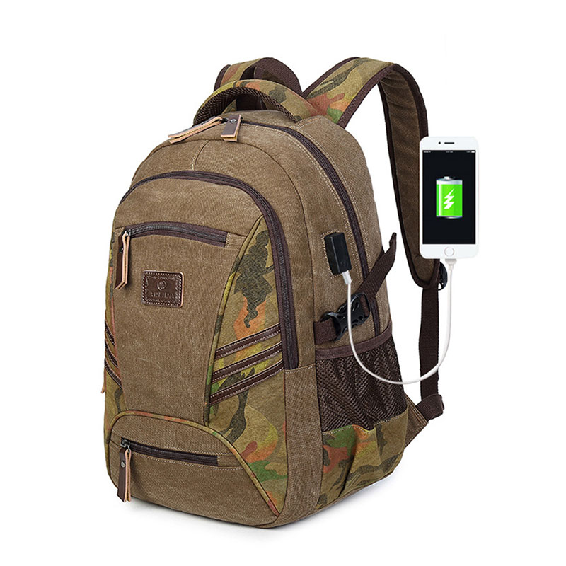 Canvas Backpack Back To School Bagpack Military Backpack USB Men Travel Bags Schoolbag For Boys Laptop Backpacks Male Bag худи print bar watch dogs