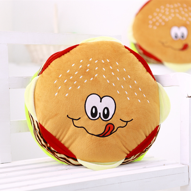 40cm Simulation Hamburger Plush Pillow Staffed Cushion Home Decor Creative Birthday Gift Funny Cute Toy Doll for Kids Children