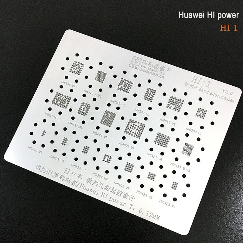 New Upgrade BGA Reballing Stencil Kit Tin Mesh Solder Template For IC Chip Huawei HI6421/6422/6522/6523/6553/6555/Hi1
