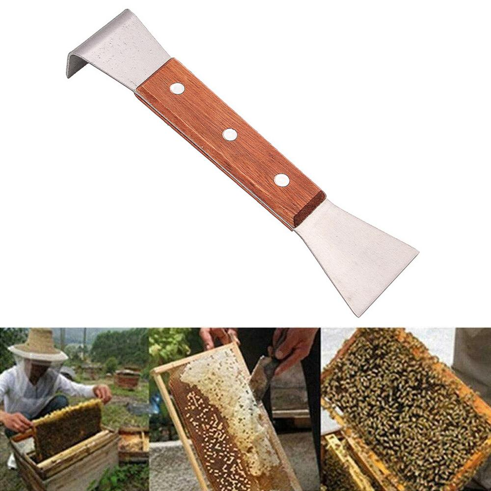 1Pc Bee Sweep Brush Utility Wood Handle Portable Beekeeping Tool for Apiculture