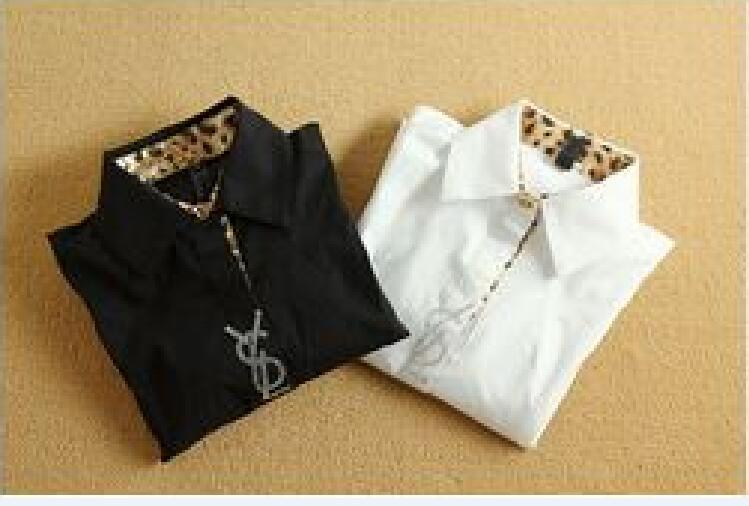 Shirts Women Black Body Long Sleeve Clothing Conjoined Blouse White