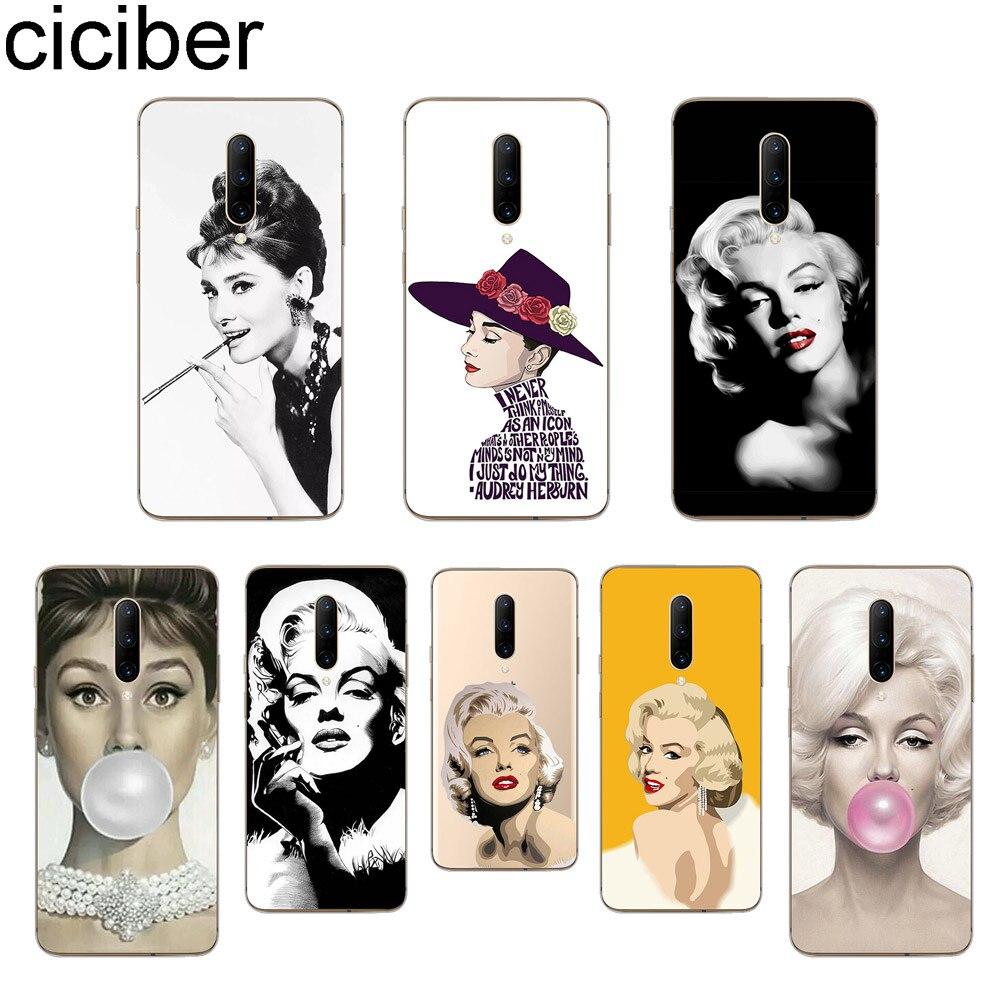 ciciber Monroe Hepburn Phone Case For font b Oneplus b font font b 7 b font