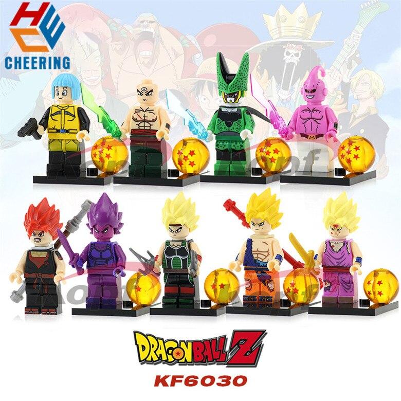 Single Sale Building Blocks Dragon Ball Z Goku Vegeta Perfect Cell Majin Buu Gohan Figures Bricks Gift Toys For Children KF6030