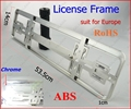 1 lot 100pieces/lot Chrome European size car license plate frame licence number-plate RoHS pro-environment ABS FFF