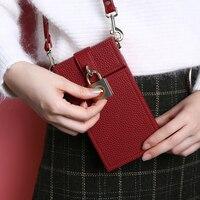 Flovemeファッションバッグ用iphone 7プラス財布ケース女の子カードスロットメッセンジャーバッグユニバーサル電話傾斜ショルダーバッグ用女