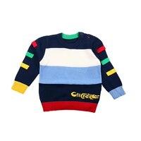 Colour Stripe Fashion Casual Boy's Clothes Autumn And Winter New Cute Cartoon Sweater