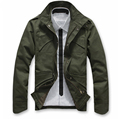 Veste Homme Solid Sale Real Uomo Men Coat Male Fashion Slim Zipper Brand Bomber Jacket Large Plus Size Camo Army Military A50
