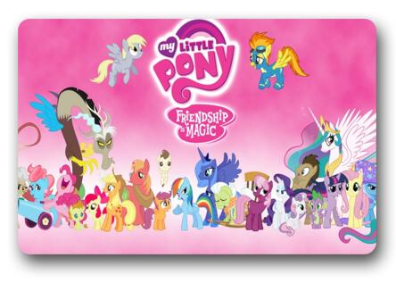 Custom My Little Pony Doormat Kids Bedroom Coussin Small Pony Carpets  Bathroom Mats Cartoon Rugs Christmas