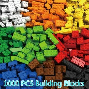 1000 pièces de Construction Briques Blocs Legoings Ville Amis DIY Creative Briques En Vrac Modèle Figures Enfants Jouets Compatible Toutes Les Marques