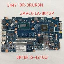 Для 5447 BR-0RUR3N 0RUR3N ZAVC0 LA-B012P материнская плата для ноутбука pavilion SR1EF PM i5-4210U Процессор DDR3L Протестировано